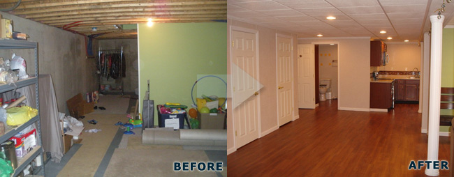 Pics Photos Before Finished Basement Remodeling Ideas 20 Before And After B